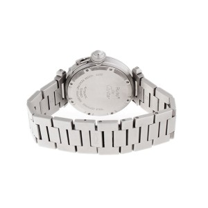 Cartier Pasha 2377 Stainless Steel Black Dial Automatic 36mm Watch