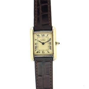Cartier Must Tank Vermeil Quartz Ladies Watch