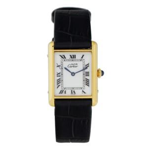 Cartier Tank Argent Gold Plated Watch