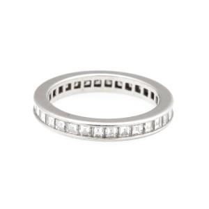 Cartier Platinum Channel Set 2.25ct. Diamond Eternity Band Ring Size 5.75