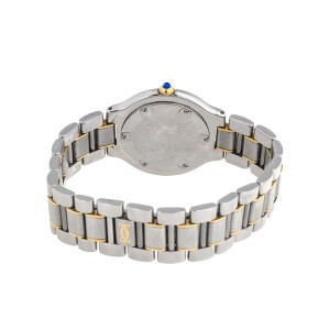 Cartier Must de 21 1330 18K Yellow Gold & Stainless Steel Silver Dial 31mm Watch