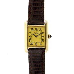 Cartier Tank Vermeil Ladies Watch