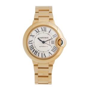 Cartier Ballon Bleu WGBB0005 18K Yellow Gold 33mm Womens Watch