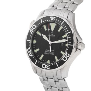 Omega Seamaster Professional 300M 2064.50 Quartz Black Dial Mens 41mm Watch