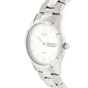 Citizen Quartz Day Date Silver Men's Watch BF0590