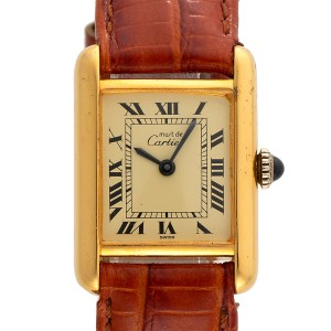 Cartier Tank Vermeil Vintage 20.5mm Womens Watch