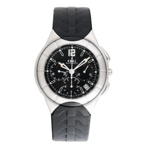 Ebel Type E Chronograph Stainless Steel with Rubber Strap 43 mm Mens Watch