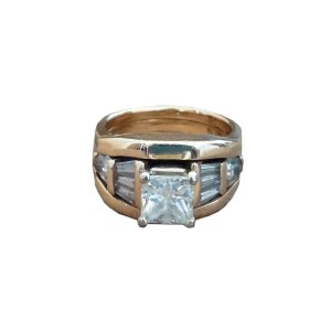 14K Yellow Gold & Diamond Handmade Wedding Ring