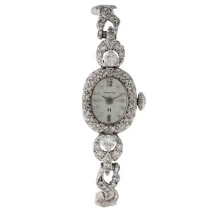 Hamilton Stainless Steel Diamond Vintage 16mm Watch
