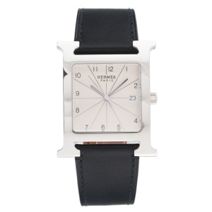 Hermes H Hour HH1.810 Stainless Steel 30.5mm Mens Watch