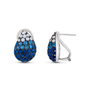 Le Vian Certified Pre-Owned Blueberry Sapphires Earrings set in Silver