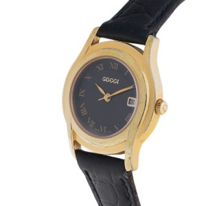 Gucci 5400l Stainless Steel Gold Plated Date 27mm Womens Watch