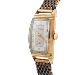 Longines 10k Gold Filled 40mm Vintage Mens Watch