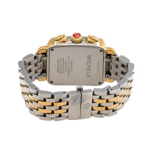 Michele Deco MW06P01C5983 Two-Tone Gold Plated & Stainless Steel High Shine Diamond 33mm Womens Watch