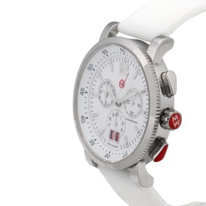 Michele MW01K00D9001 Sport Sail Large Analog-Display Swiss-Quartz Silver-Tone 42mm Womens Watch