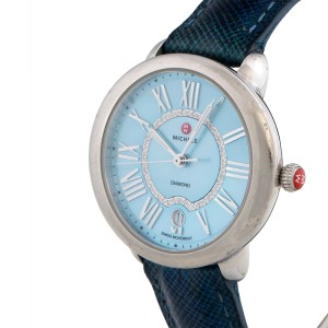 Michele Serein MW21B00A0063 Stainless Steel  Blue Diamond Dial 36mm Womens Watch