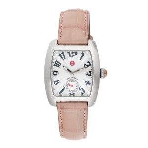 Michele MW02A00 Stainless Steel & Leather Quartz 35mm Womens Watch