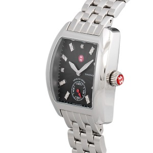 Michele Mini Urban MW02A00A0927 Stainless Steel Diamond Black 22mm Womens Watch