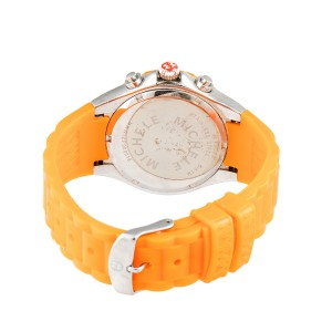 Michele Tahitian Jelly Bean MWW12D000005 Chronograph Orange Rubber Women's Watch