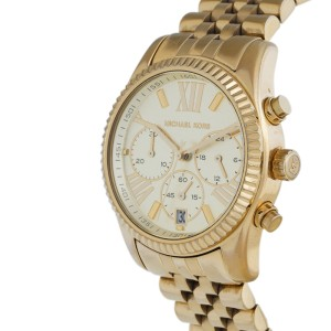 Michael Kors Lexington MK5556 Gold-Tone Stainless Steel Chronograph 38mm Watch