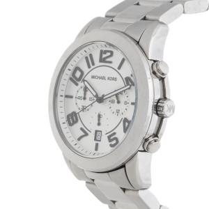 Michael Kors Mercer MK8290 Chronograph Stainless Steel Silver Dial 45mm Watch
