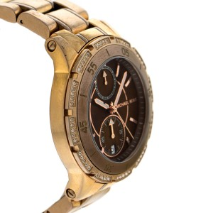 Michael Kors Chronograph Two Tone Dial Women's Watch MK5553