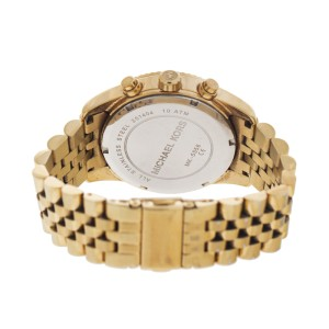 Michael Kors Lexington MK556 Gold PVD Stainless Steel Chronograph Champagne Dial 38mm Watch