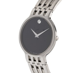 Movado Stainless Steel Museum Black Dial Watch 04 1 14 1010