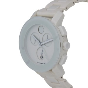 Movado Bold White Mb.01.3.29.6020 Chronograph 38.5mm Watch