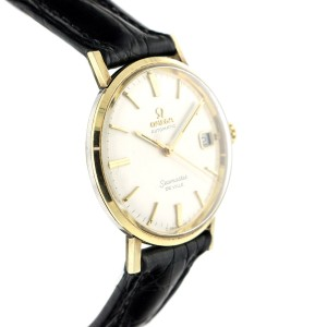 Omega Seamaster Deville 14K Yellow Gold Plated Stainless Steel & Leather 34mm Watch