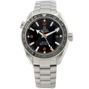 Omega Seamaster Planet Ocean GMT 232.30.44.22.01.002 Stainless Steel Mens Watch
