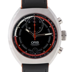 Oris Chronoris Cal 672 Stainless Steel Black Automatic Date 40mm Watch