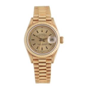 Rolex DateJust 69178 18k Yellow Gold Womens 26mm Watch