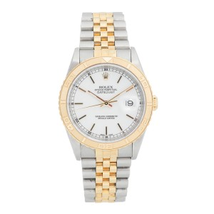 Rolex DateJust Two Tone ThunderBird Bezel Model #16263