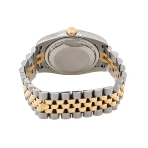 Rolex Datejust 116233 Stainless Steel & 18K Gold Champagne Diamond Mens Watch