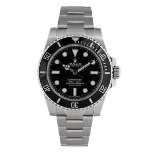 Rolex Submariner No-Date 114060 Stainless Black Dive Ceramic 40mm 2015 Watch