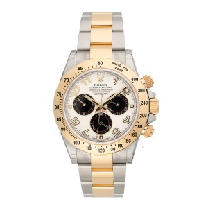Rolex Cosmograph Daytona 116253 IBKAO Ivory Automatic Ivory Dial Stainless Steel and 18K Yellow Gold 40mm Mens Watch