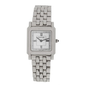 Tiffany & Co. Square Stainless Steel Quartz 31mm x 24mm Watch