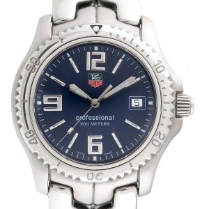 Tag Heuer Link WT1113 Stainless Steel Blue Dial 43mm Mens Watch