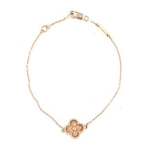Van Cleef Arpels 18k Rose Gold Sweet Alhambra Bracelet Van Cleef