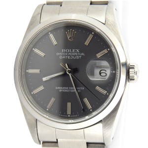 Mens Rolex Stainless Steel Datejust Slate 16200