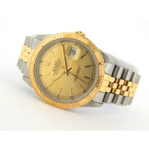 Mens Rolex Two-Tone 18K/SS Datejust Champagne 16263