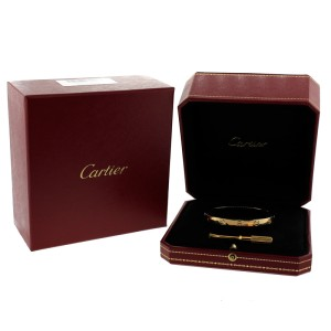 Cartier Love Bracelet Yellow Gold Size 17