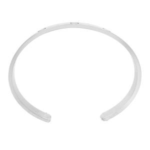 "Cartier 18k White Love Bracelet Cuff 7.9"""