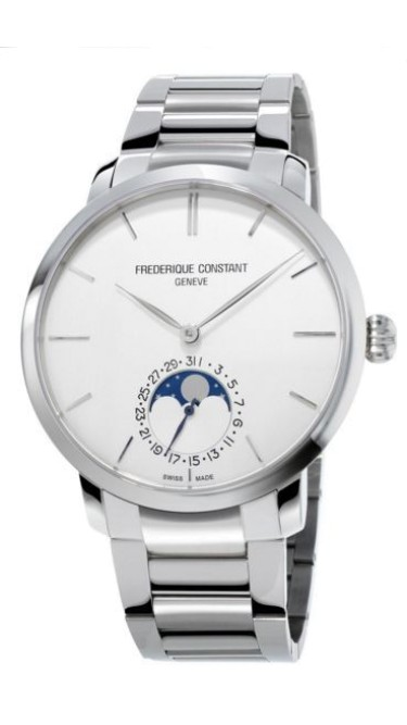 Frederique Constant Fc-705S4S6B2 Slimline Moonphase Mens Watch