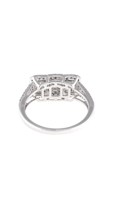 Mosaic Collection 18K White Gold Diamonds Ring
