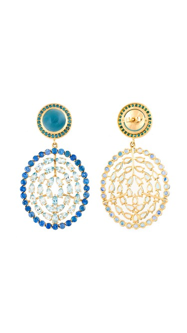18K Gold Aquamarine Plima Earrings