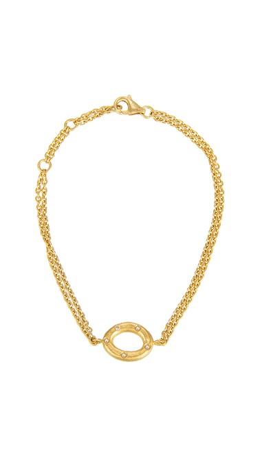 Yossi Harari Jewelry Roxanne 24k Gold Diamond Melissa Bracelet
