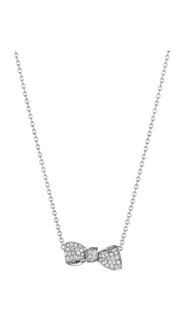 18K Gold Mini Knot Bow Necklace