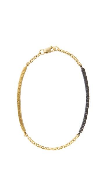 Yossi Harari Jewelry 18k Gold Ruby Lilah ID Bracelet